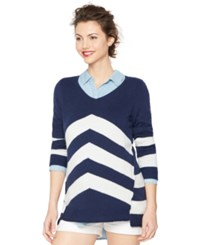 A Pea In The Pod Maternity Chevron V Neck Sweater