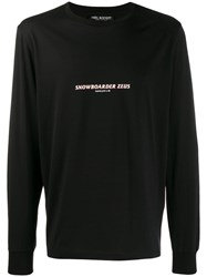Neil Barrett Script Print Jumper Black