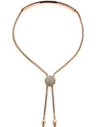 Love Rocks Bar Lariat Bracelet Rose