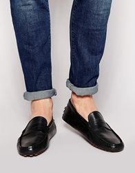 Lacoste Concours Leather Loafers Black