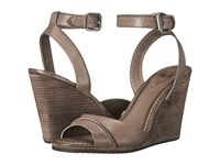 Frye Patricia Wedge 2 Piece Grey Soft Vintage Leather Women's Wedge Shoes Taupe