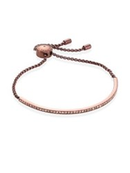 Michael Kors Sable Pave Slider Bracelet Rose Gold