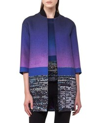 Akris Punto Twilight City Bomber Coat Multi Pattern