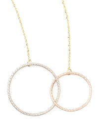 Magnetic Two Circle Necklace Lana Pink