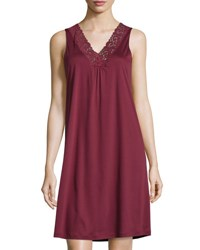 Hanro Moments Tank Nightgown Red Plum