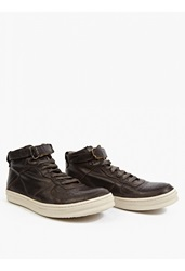 Officine Creative Black Leather Paragon' Hi Top Sneakers