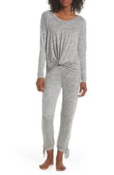 Ugg Fallon Long Pajamas Grey Heather