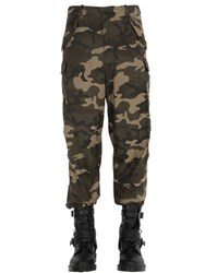 Faith Connexion Oversized Camouflage Print Cargo Pants