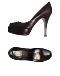 Lerre Pumps With Open Toe Dark Brown