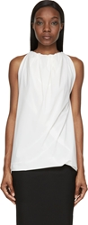 Rick Owens Milk White Sleeveless Parachute Blouse