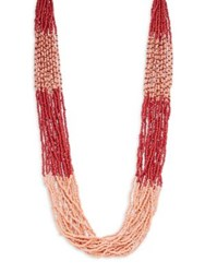 Design Lab Lord And Taylor Colorful Beaded Necklace Red