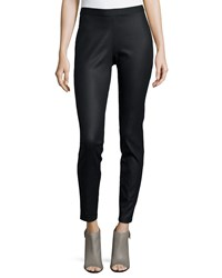 Eileen Fisher Coated Stretch Denim Leggings Petite Women's Black