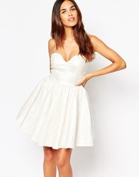 Oh My Love Shimmer Mini Prom Dress Pearlescent White