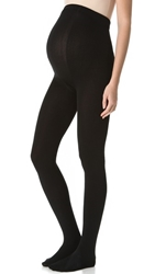 Plush Maternity Fleece Lined Tights Black