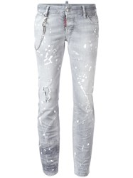 Dsquared2 Flare Jeans Grey