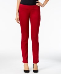 Styleandco. Style Co. Petite Curvy Skinny Pants Only At Macy's Deep Scarlet