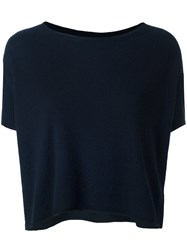 Kristensen Du Nord Short Sleeve Cropped Jumper Blue