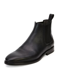 Lanvin Grained Leather Chelsea Boot Black