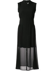 Ck Calvin Klein Layered Georgette Dress Black