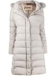 Herno Hooded Down Coat Grey