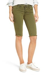 Kut From The Kloth Women's Natalie Frayed Hem Denim Bermuda Shorts