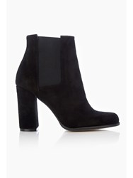 Wallis Black Leather Ankle Boot