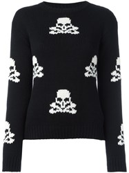 Ermanno Scervino Skull Pattern Jumper Black