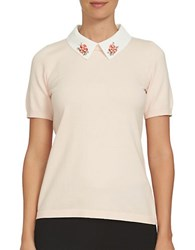 Cece Misses Poppy Fields Cotton Tee Peach