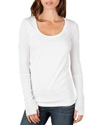Alternative Apparel Knit Long Sleeve Top White