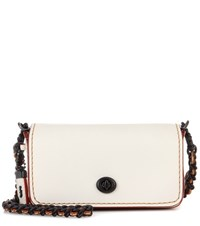 Coach Dinkier Glovetanned Leather Shoulder Bag White