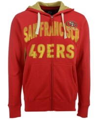 G3 Sports Men's San Francisco 49Ers Hands High Playoff Full Zip Hoodie Red Gold