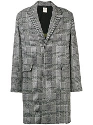 Zadig And Voltaire Manteau Morris Checked Coat Grey