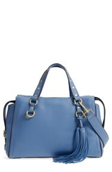 Cole Haan Cassidy Rfid Pebbled Leather Satchel Blue Riverside