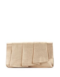 La Regale Ruffle Pleated Clutch Gold