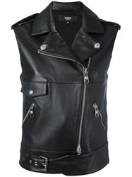 Versus Leather Gilet Black