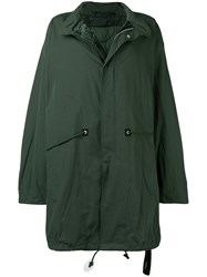 Unravel Project Long Oversized Coat Green