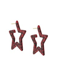 Eshvi Star Earring Red