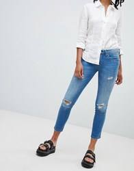 Blank Nyc Distressed Skinny Jeans Blue