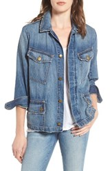 Current Elliott Women's The Updated Slant Pocket Denim Military Jacket
