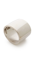 Kenneth Jay Lane Thick Cuff Bracelet Silver