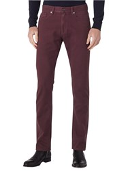 Reiss Maurice Twill Slim Jeans Bordeaux