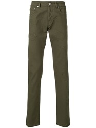 Versus Embroidered Details Trousers Green