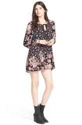 Women's Free People 'Lucky Loosie' Swing Dress Onyx Combo