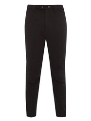 Ann Demeulemeester Mid Rise Tapered Twill Trousers Black