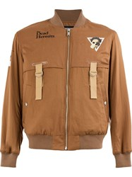 Undercover Ma 1 The Dead Hermits Bomber Jacket Brown