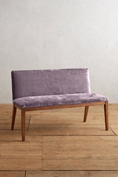 Anthropologie Slub Velvet Emrys Bench Violet