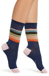 Paul Smith Estelle Frill Socks Navy