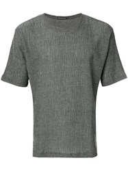 Issey Miyake Men Textured T Shirt Men Cotton Polyester 5 Grey