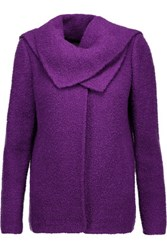 Oscar De La Renta Draped Wool And Alpaca Blend Jacket Purple