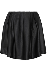Thakoon Satin Drill Mini Skirt Black